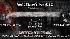 Escape room Bratislava - darčekový poukaz - Divná Bratislava | zazito.ooo